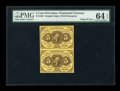 Fractional Currency:First Issue, Fr. 1230 5c First Issue Vertical Strip PMG Choice Uncirculated 64 EPQ....