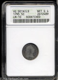 Early Half Dimes: , 1795 H10C --Scratched--ANACS. VG Details, Net Good 4. V-4, ...