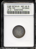 Early Dimes: , 1796 10C --Scratched--ANACS. Fine Details, Net VG8. JR-2, ...
