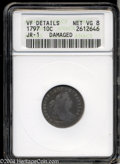 Early Dimes: , 1797 10C 16 Stars--Damaged--ANACS. VF Details, Net VG8. ...