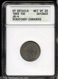 Early Dimes: , 1803 10C --Scratched, Corroded--ANACS. XF Details, Net VF20.