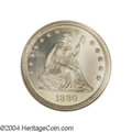 Proof Seated Quarters: , 1880 25C PR67 Cameo NGC. Struck from Reverse C, which ...