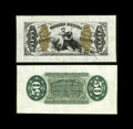 Fractional Currency:Third Issue, Fr. 1343/58SP 50c Third Issue Wide Margin Pair Justice.... (Total: 2 notes)