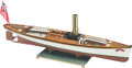 Decorative Accessories, Live Steam Bat Launch 1:8 Ship Model with Glass,Brass and Wood Case, circa 2000. 41 inches (104.1 cm). Prope...