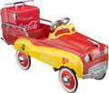 Collectible, Gearbox Branded Coca-Cola Station Wagon Pedal Car with Reproduction Vintage Ice Chest. Marks: Drink Coca-Cola,...