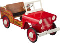 Collectible, Crosby Steger Jeep Country Estate Station Wagon Pedal Car, Steger, Illinois, 1948. Marks: Steger, Station Wago...