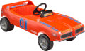 Collectible, Coleco 1969 Dodge Charger The Dukes of Hazard General Lee Pedal Car, West Hartford, Connecticut, 1982. Marks: ...