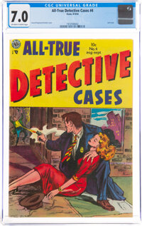 All-True Detective Cases #4 (Avon, 1954) CGC FN/VF 7.0 Off-white to white pages