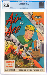 Air Ace V3#1 (Street & Smith, 1946) CGC VF+ 8.5 White pages