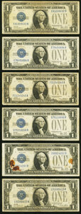 Small Size:Silver Certificates, More $1 Funny Back Silver Certificates Fine.. Fr. 1600 1928;. Fr. 1601 1928A;. Fr. 160...