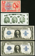 Miscellaneous:Other, Fr. 237 $1 1923 Silver Certificates (2) Very Fine; Fine-Very Fine;. MPC Series 591 $1 Fine-Very Fine.. Giori Press Jef... (Total: 4 notes)