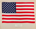 Explorers:Space Exploration, Apollo 12 Lunar Module Flown Largest- Size American Flag on a Presentation Mat Signed by and Directly from the Family Collecti...