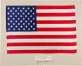 Explorers:Space Exploration, Apollo 12 Lunar Module Flown Largest- Size American Flag Signed and Certified on Flag on a Presentation Mat Signed by and Dire...