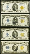 $5 and $10 1934A North Africa Silver Certificates. Fr. 2307 $5 VF-XF; Fr. 2307 $5 VF (2); Fr. 2309 $10 1934A VF... (Tota...