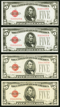 $5 Legal Tender Notes. ... (Total: 4 notes)