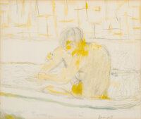 Pierre Bonnard (French, 1867-1947) La baigneuse Watercolor, pastel, and pencil on paper 9-1/4 x 1