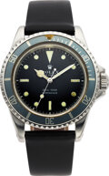 Timepieces:Wristwatch, Rolex, Stainless Steel Submariner, Refinished Dial, Ref. 5513, circa 1967. ...