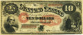 Large Size:Legal Tender Notes, Fr. 98 $10 1875 Legal Tender PMG Very Fine 25.. ...
