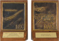 Explorers:Space Exploration, Vintage NACA/NASA Bookends Given to Employee of Langley Research Center....