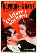 """Movie Posters:Comedy, Holiday (Columbia, 1938). Folded, Very Fine+. Swedish One Sheet (27.5"""" X 39.5"""") Eric Rohman Artwork.. ..."""