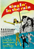 """Movie Posters:Musical, Singin' in the Rain (MGM, 1952). Rolled, Very Fine+. Swedish One Sheet (27.5"""" X 39.25"""").. ..."""