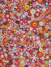 Takashi Murakami (b. 1962) An Homage to Monopink, 1960 E, 2012 Offset lithograph in colors on smooth wove paper 27 x