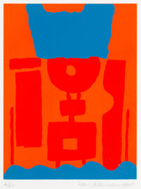Max Ackermann (1887-1975) Untitled, 1968 Screenprint in colors on wove paper 9-1/2 x 7-1/4 inches (24.1 x 18.4 cm) (i