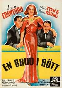 """The Bride Wore Red (MGM, 1938). Folded, Very Fine+. Swedish One Sheet (27.75"""" X 39.5"""")"""