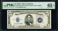 Small Size:Silver Certificates, Fr. 1653 $5 1934C Mule Silver Certificate. with Back Plate 637. P-A Block. PMG Gem Uncirculated 65 EPQ.. ...