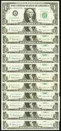 Complete District Set Fr. 1900-A*-L* $1 1963 Federal Reserve Star Notes Crisp Uncirculated or Better. ... (Total: 12 not...