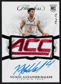 Basketball Cards:Singles (1980-Now), 2019 Panini Flawless Collegiate Nickeil Alexander-Walker (Rookie Patch Autograph) #133 - #'d 1/1. ...
