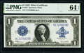 Large Size:Silver Certificates, Fr. 237 $1 1923 Silver Certificate PMG Choice Uncirculated 64 EPQ.. ...