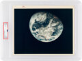 """Explorers:Space Exploration, Apollo 8 Vintage NASA """"Red Number"""" Color Photo, Image AS8-14-2593, PSA Authenticated and Encapsulated with Certification Numbe..."""