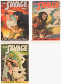Pulps:Adventure, Doc Savage Group of 3 (Street & Smith, 1949) Condition: Average VG+.... (Total: 3 Items)