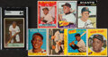 Baseball Cards:Lots, 1954-71 Bowman/Topps Willie Mays Collection (8). O...
