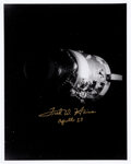 Explorers:Space Exploration, Fred Haise Signed Apollo 13 Damaged Service Module Photo. ...