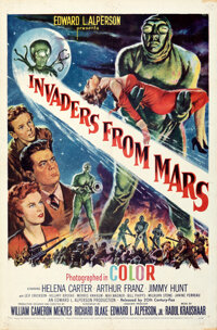 """Invaders from Mars (20th Century Fox, 1953). Folded, Fine/Very Fine. One Sheet (27"""" X 41"""")"""