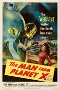 """Movie Posters:Science Fiction, The Man from Planet X (United Artists, 1951). Folded, Very Fine. Autographed One Sheet (27"""" X 41"""").. ..."""