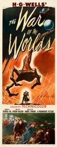 """Movie Posters:Science Fiction, The War of the Worlds (Paramount, 1953). Fine+ on Paper. Insert (14"""" X 36"""").. ..."""