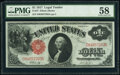 Fr. 37 $1 1917 Legal Tender PMG Choice About Unc 58