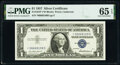 Small Size:Silver Certificates, Fr. 1619* $1 1957 Silver Certificate Star. *-D Block. PMG ...
