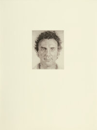 Chuck Close (b. 1940) Don N., 1975 Ink and pencil on Arches paper 30 x 22 inches (76.2 x 55.9 cm) Signed, dated, and