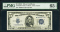 Small Size:Silver Certificates, Fr. 1653* $5 1934C Wide Silver Certificate Star. PMG Gem Uncirculated 65 EPQ.. ...
