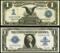 Fr. 230 $1 1899 Silver Certificate Fine; Fr. 237 $1 1923 Silver Certificate Extremely Fine