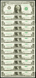 Small Size:Federal Reserve Notes, Complete District Set Fr. 1901-A*-L* $1 1963A Federal Rese...