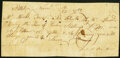 Colonial Notes:Mixed Colonies, Payment Receipt 12 Shillings November 23, 1780 Very Good.. ...