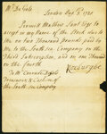 London Letter Concerning South Sea Company Capital Stock Aug. 3, 1721 Not Graded
