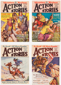 Action Stories Covers-Only Group of 20 from the Edgar Church Collection (Fiction House, ca. 1930s-40s).... (Total: 20 It...