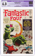 Silver Age (1956-1969):Superhero, Fantastic Four #1 (Marvel, 1961) CGC Apparent FN 6.0 Moderate (A-3) Off-white pages....