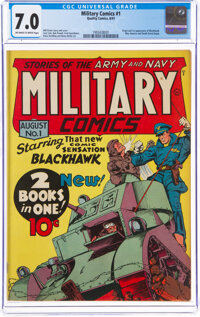 Military Comics #1 (Quality, 1941) CGC FN/VF 7.0 Off-white to white pages